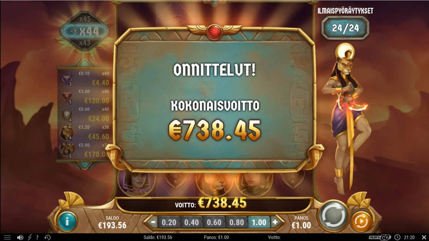Sisters of the Sun Casino win picture by Kari Grandi 4.9.2021 738.45e 738X