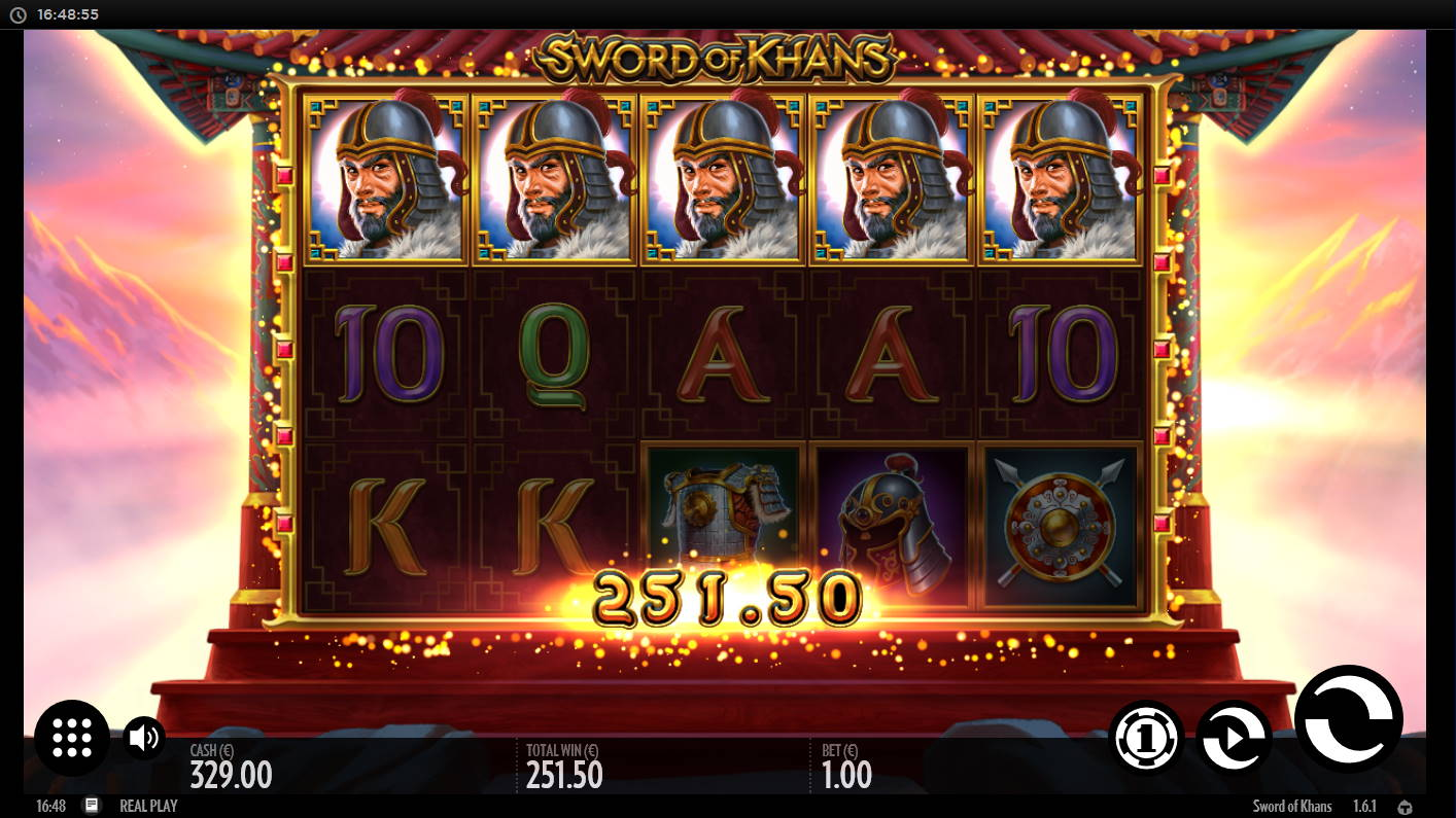 Sword of Khans Casino win picture by Kari Grandi 22.8.2021 251.50e 252X